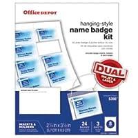 Office Depot ( R )ブランド名バッジキット、24パック