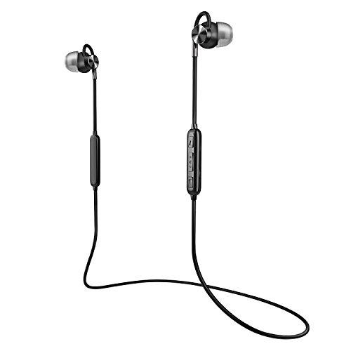 Bluetooth イヤホン-WERPOWER-スポーツイヤホン マグネット 人間工学設計 マグネット 内蔵 IPX4防水防汗 軽量(ブラック)