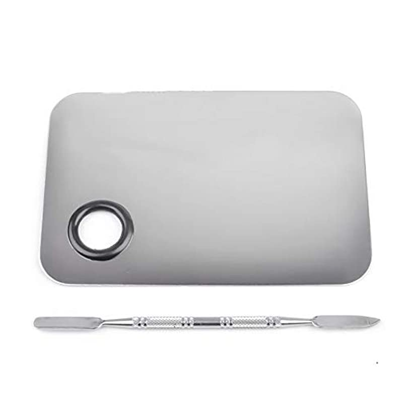 サイレントメニューシリアル1st market プレミアムステンレス鋼化粧品ネイルアートカラーメイクアップパレットへらツール