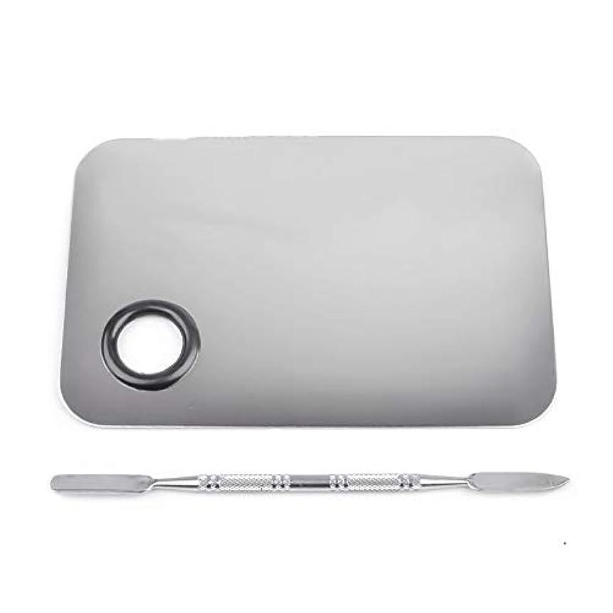 ブリッジパス受け入れた1st market プレミアムステンレス鋼化粧品ネイルアートカラーメイクアップパレットへらツール