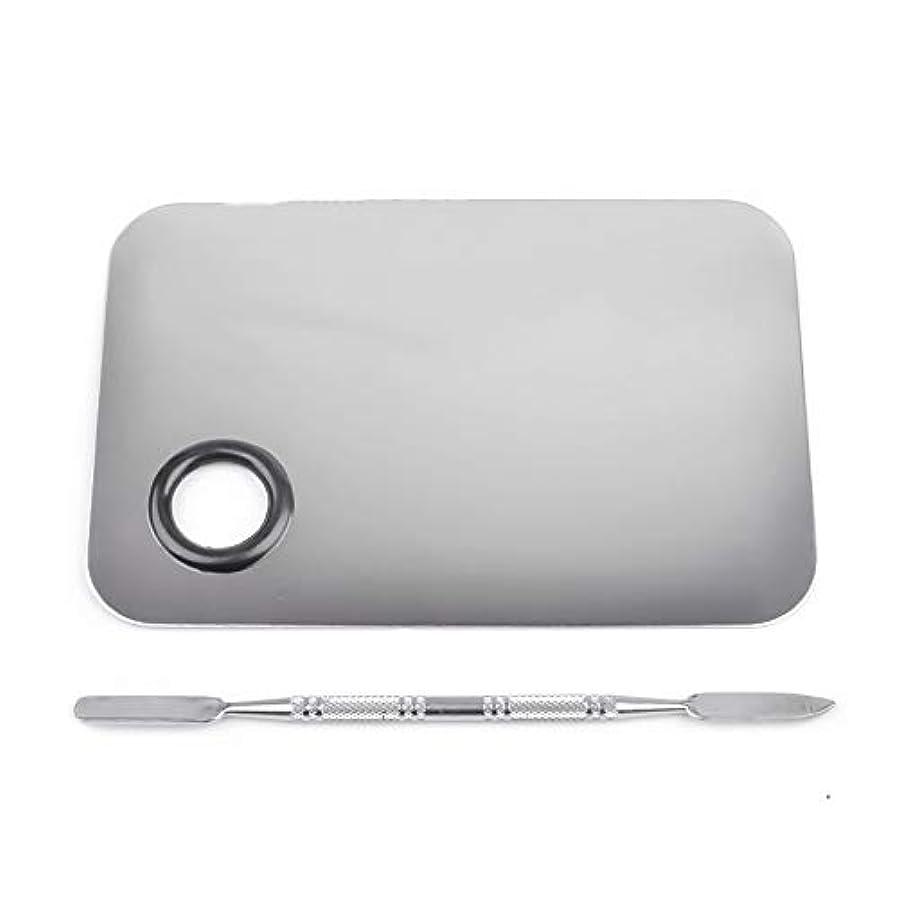 1st market プレミアムステンレス鋼化粧品ネイルアートカラーメイクアップパレットへらツール