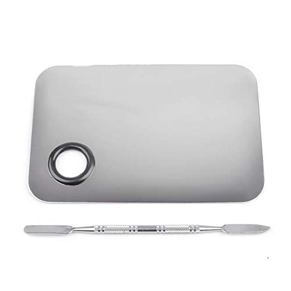 ハードウェアセットアップボンド1st market プレミアムステンレス鋼化粧品ネイルアートカラーメイクアップパレットへらツール
