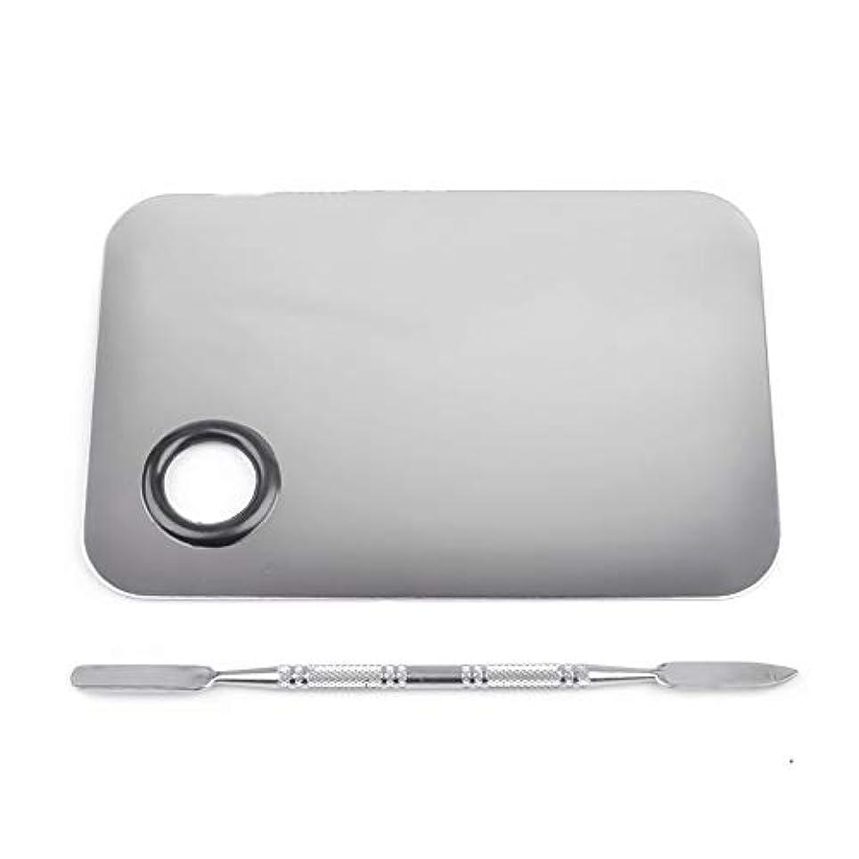 関係するサラダクスクス1st market プレミアムステンレス鋼化粧品ネイルアートカラーメイクアップパレットへらツール