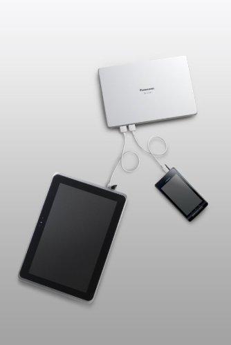 Panasonic モバイルバッテリー 10,260mAh USBモバイル電源(大容量タイプ) ホワイト QE-QL301-W