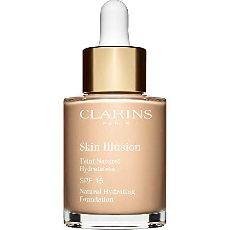 半島拡声器きちんとした[Clarins ] クラランススキンイリュージョン自然の水和基盤Spf15 30ミリリットル103 - アイボリー - Clarins Skin Illusion Natural Hydrating Foundation...