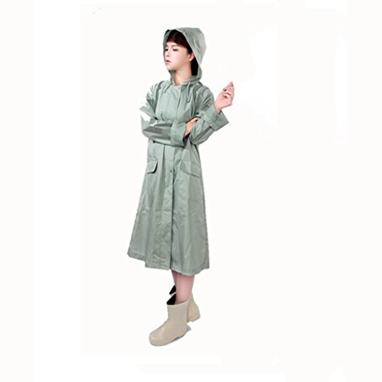 C&L レディースファッションロングトレンチコートコートレインコートウェアウォータープルーフアダルトレインコートコートシャツレインコートオックスフォードクロス大人用(Lサイズ) (色 : A, サイズ さいず : L l)
