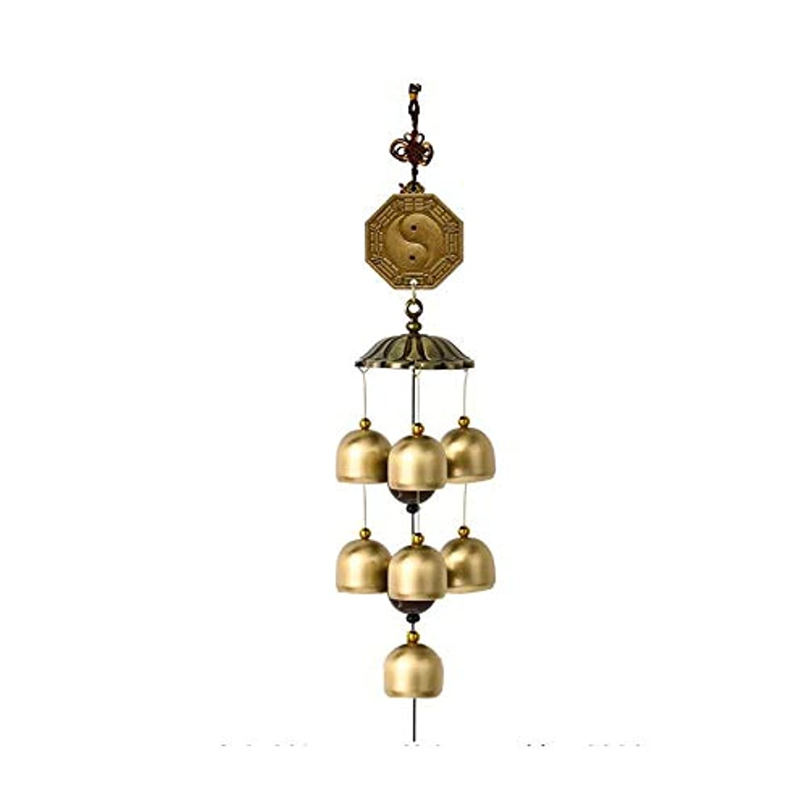 手綱最初はライバル屋外テラス、バルコニー、部屋、壁、窓の装飾に適した風チャイム、7つの純銅ベル、メタルピーコックゴシップベル、 (Color : 3)