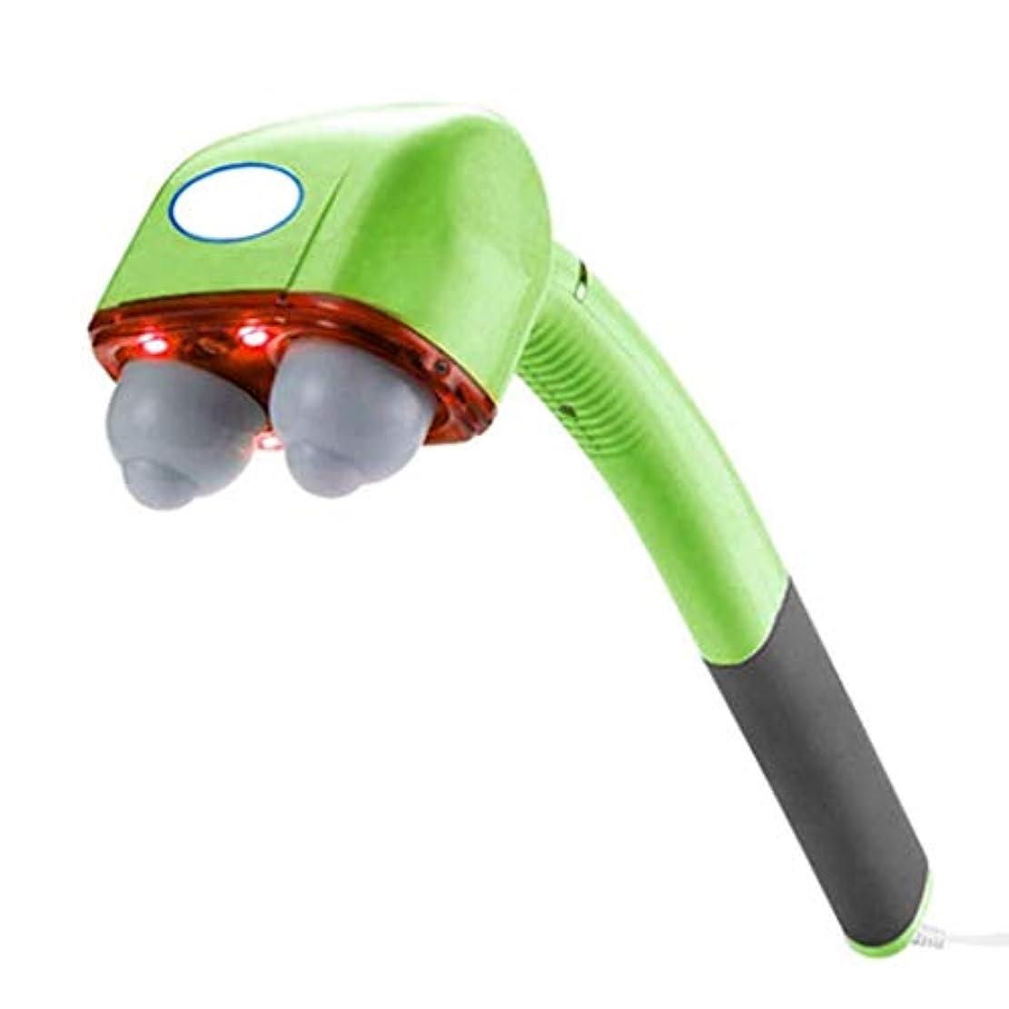 マッサージ、手持ちマッサージ、4台のマシン、全身、頸椎、背筋、リラクゼーション、振動、ディープティシューマッサージ (Color : Green)