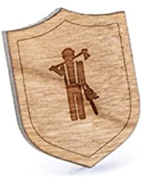 Lumberjackラペルピン、木製ピンとタイタック|素朴な、ミニマルGroomsmenギフト、ウェディングアクセサリー