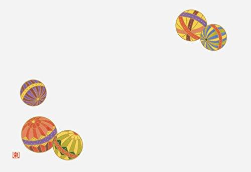 若泉漆器 上質紙マット 尺3寸長手テーブルマット 吉祥紋シリーズ 手毬文 100枚入 B-26-32
