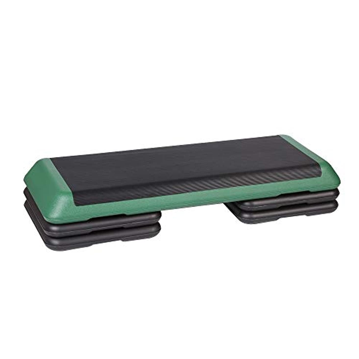 イタリアのブロッサム増幅便利さ 高さ調節可能なエクササイズステッパー3倍の高レベルのステップレイズプラットフォームステッパーボードブロック 実用的ステップ台 (色 : Dark Green, Size : 110cm)