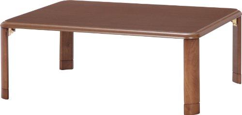 不二貿易 軽量継脚折畳座卓 幅105×奥行75cm ミディアムブラウン 10037
