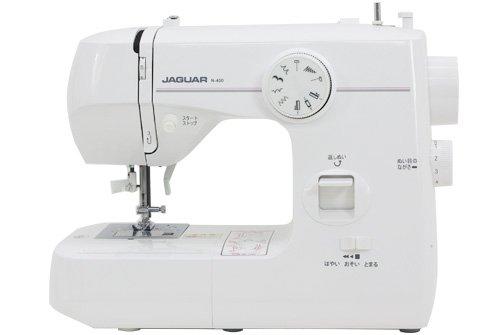 ジャガー電動ミシン「N400/N400F」 (グレー&ピンク(ボタン式))