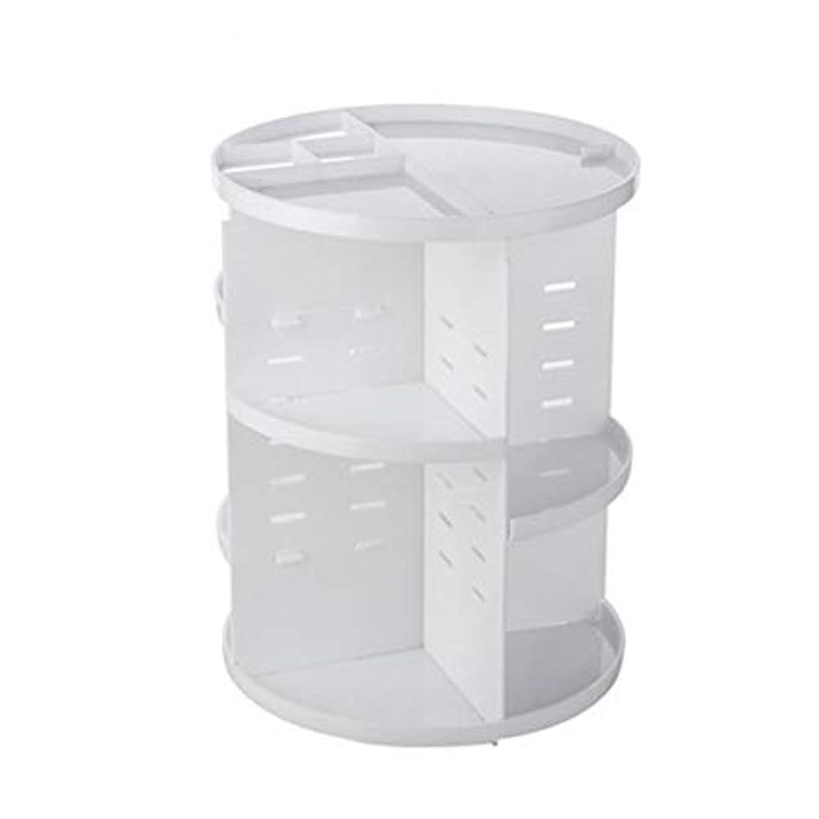 具体的に雪だるまを作るメッセージ化粧品収納ボックス FidgetFidget 大容量 360度回転 コスメ収納ボックス 小物/化粧品入れ コスメ収納スタンド レディース メイクケース 白