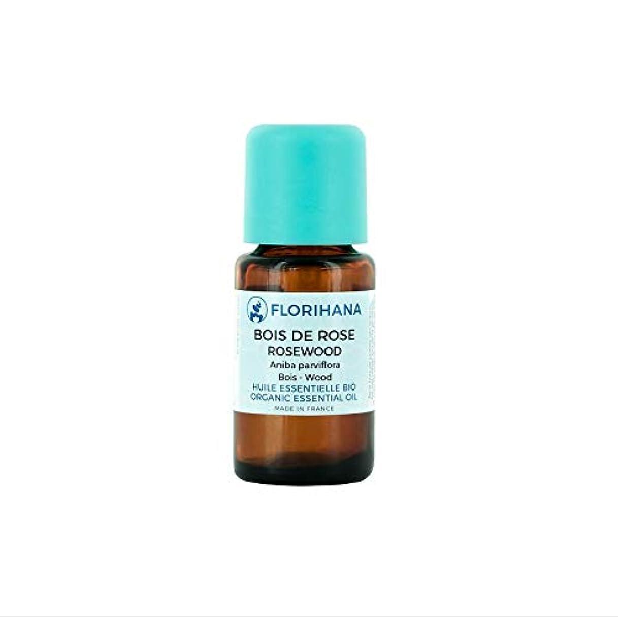 おもてなしで出来ている湿ったFlorihana オーガニック エッセンシャルオイル ローズウッド 5g(5.7ml)