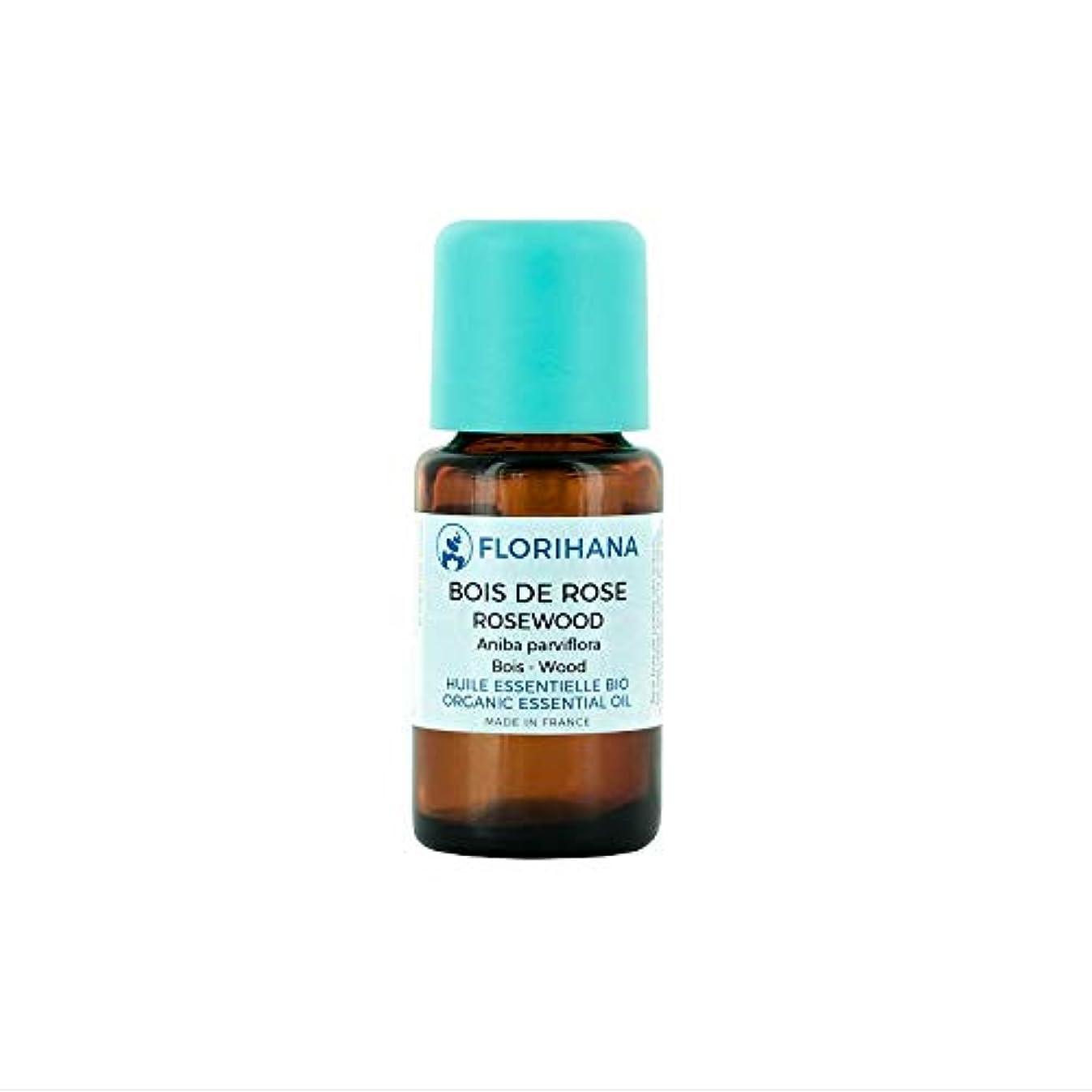 消毒剤スマイルに対応するFlorihana オーガニック エッセンシャルオイル ローズウッド 5g(5.7ml)