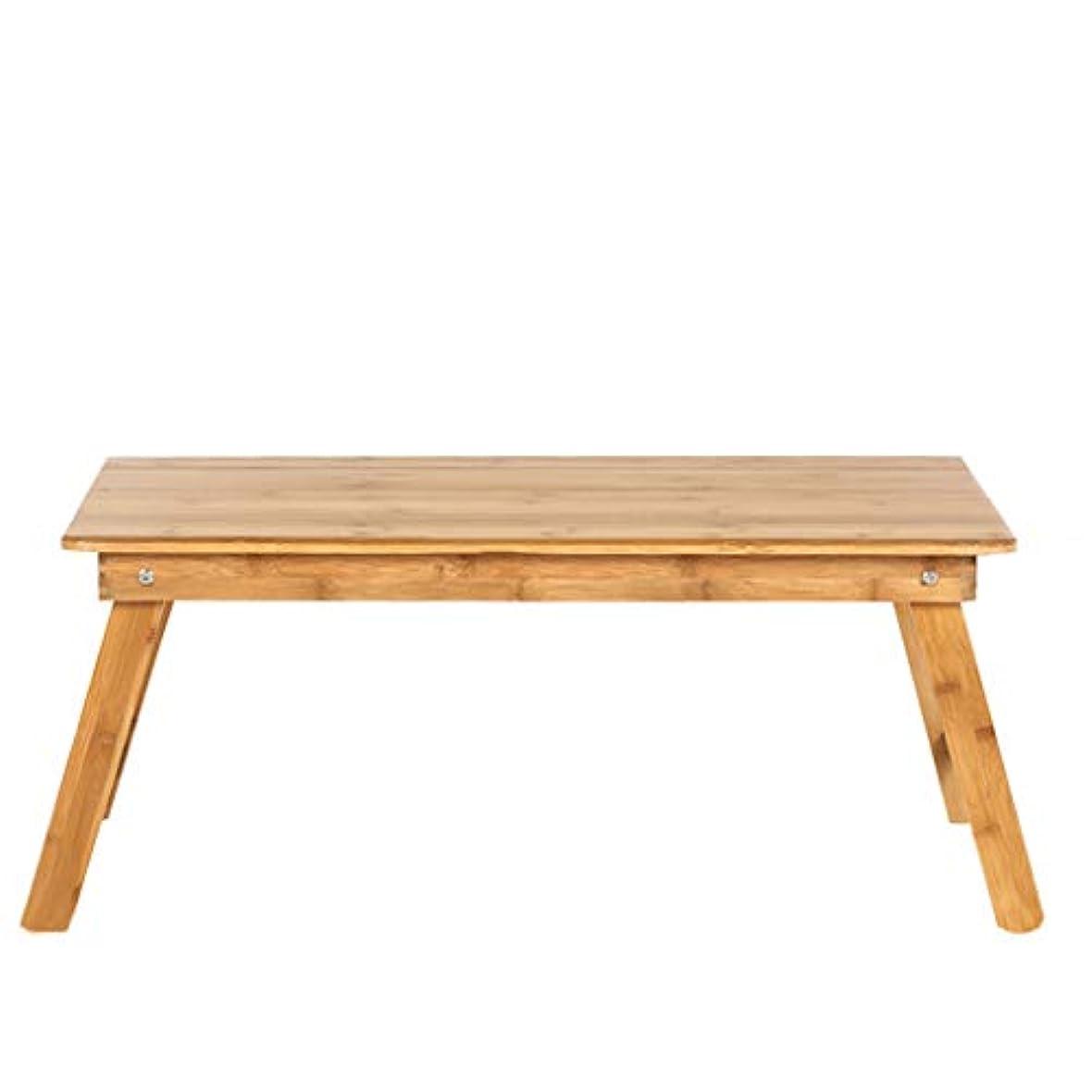 NJ 折りたたみ式テーブル- 折りたたみ可能な木製のシンプルな小さなテーブル、自宅の学生デスク、ラップトップテーブル (色 : 木の色, サイズ さいず : 70x35x31cm)