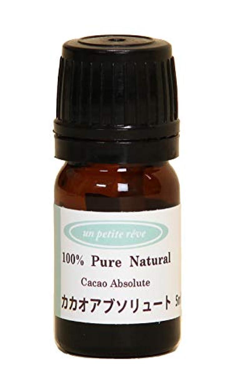 庭園いつでも命令カカオ(ココア) アブソリュート 5ml 100%天然アロマエッセンシャルオイル(精油)