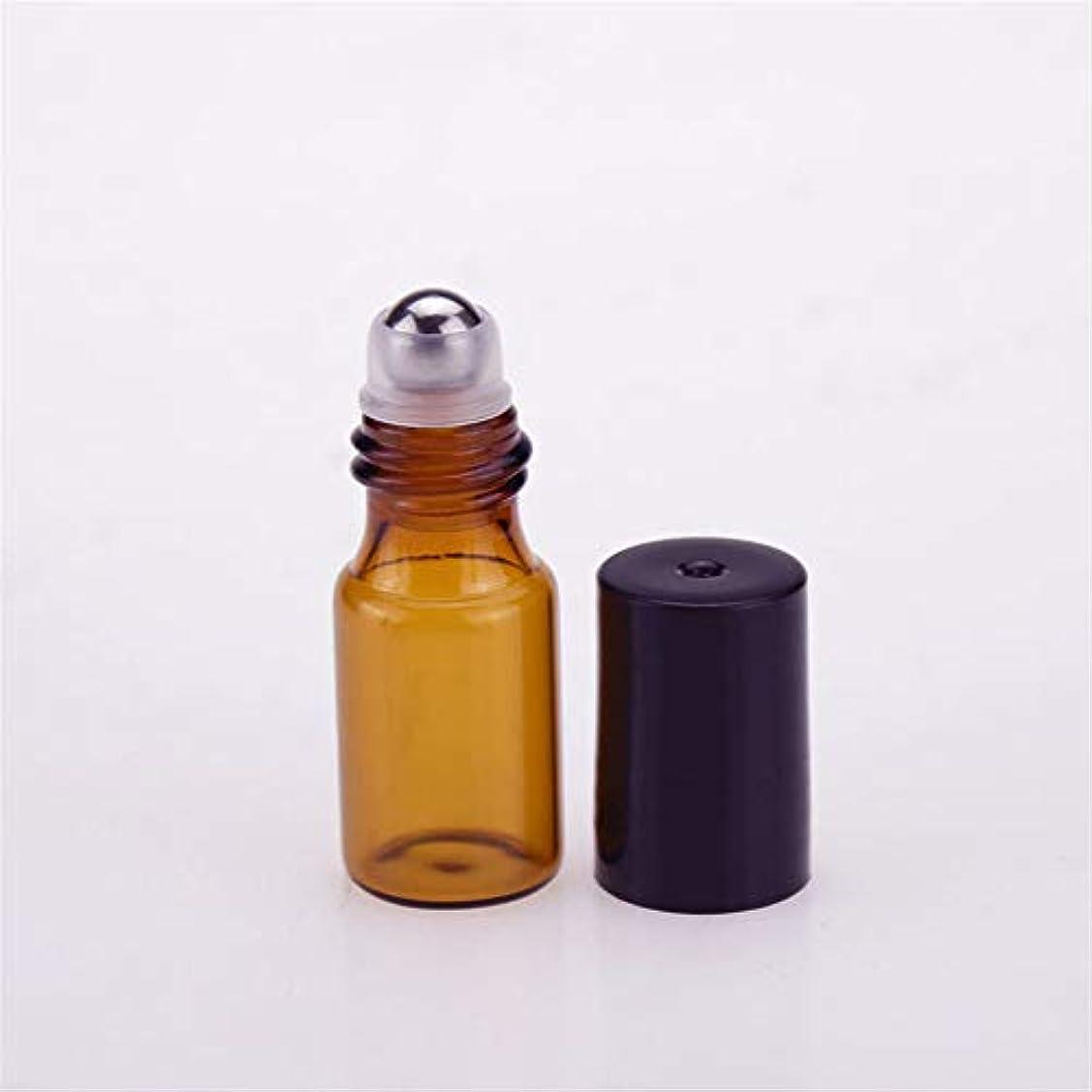 ファシズム罰する説明的遮光瓶 ロールオンボトル 詰め替えボトル ガラスロールタイプ アロマオイル瓶 香水 精油 小分け アロマボトル 保存容器 茶色3ml 12本セット(プラスチックスポイト2本+漏斗2個+デルタオープナー1個付き)