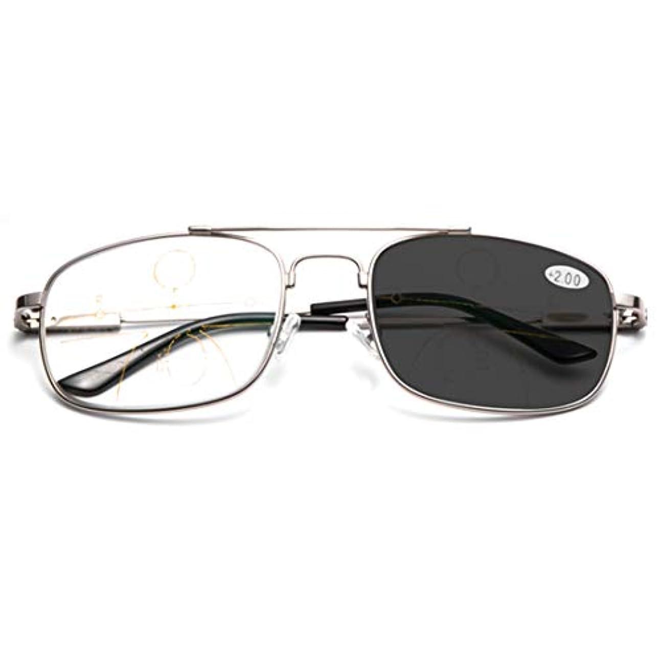 デイジーエリート予言する超軽量メタルプログレッシブマルチフォーカス老眼鏡、インテリジェントな屋外用カラーチェンジ、遠近両用、フルフレーム/ハーフフレーム