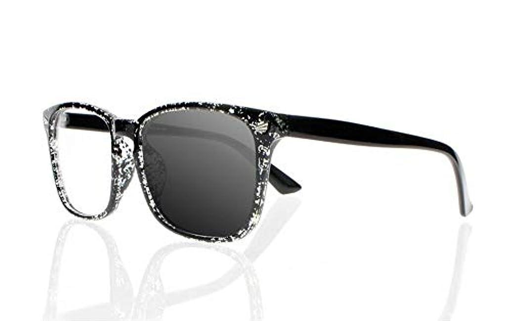 漏斗不安定な前件FidgetGear ビンテージトランジションフォトクロミックスクエアサン老眼鏡オタクオタクサングラス スペックル