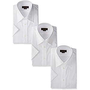 (スティングロード) STINGROAD(スティングロード) 形態安定加工ノーアイロン綿高率白半袖レギュラーカラードレスシャツ3枚セット MA100-3 ホワイト 43