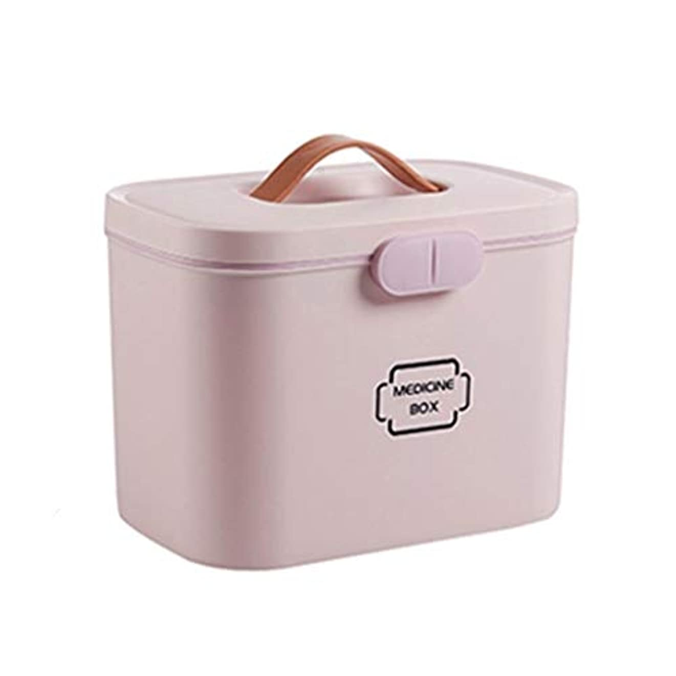 国籍明快やがて緊急用バッグ 大型医療キットポータブル救急箱家庭用薬収納ボックス旅行と職場医療用収納キット(ピンク、ブルー、ホワイト) HMMSP (Color : Pink)