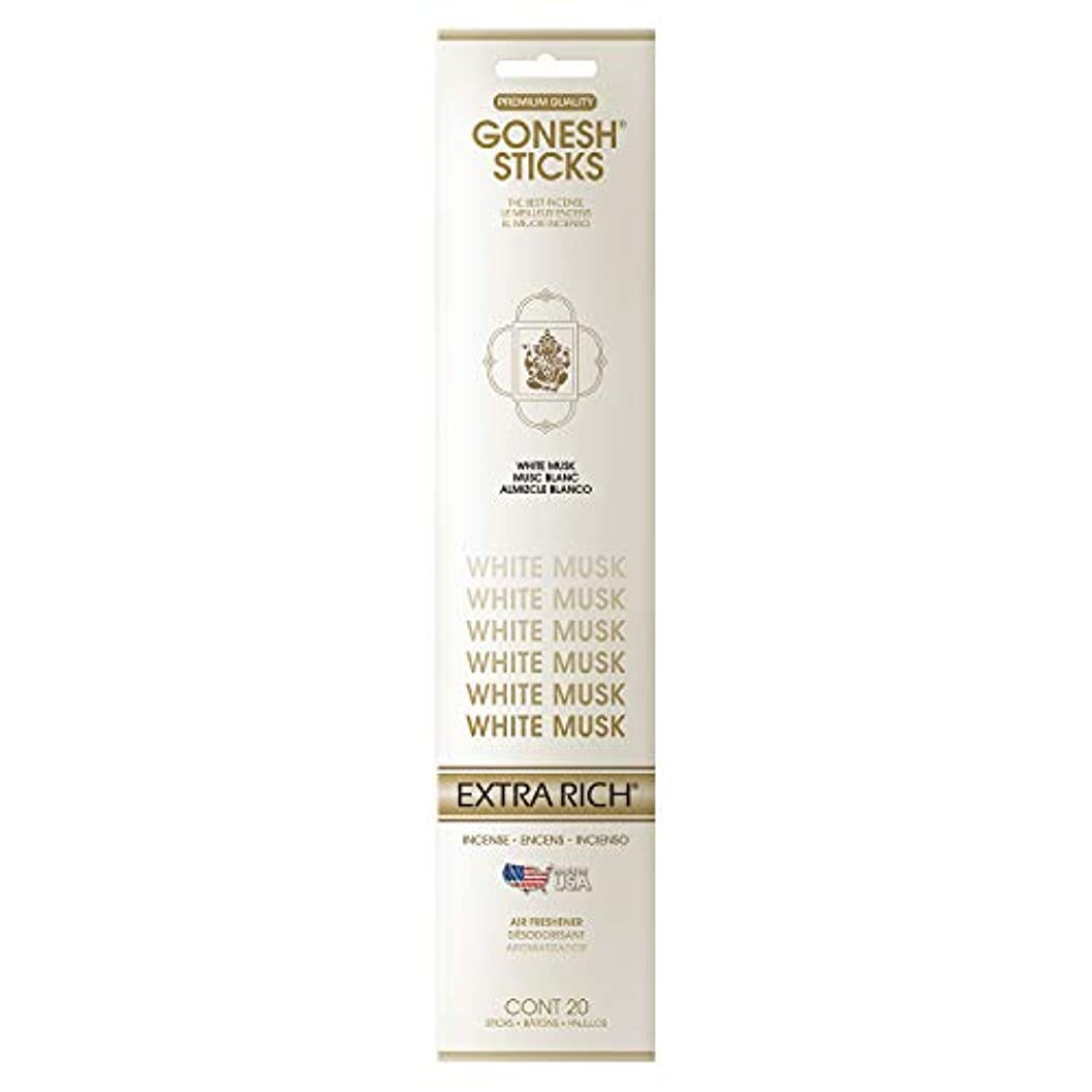 星インデックスゴージャスGONESH(ガーネッシュ) GONESH インセンススティック ホワイトムスク(ホワイトフローラルの甘さとシャボンの清潔感ある香り) 20本
