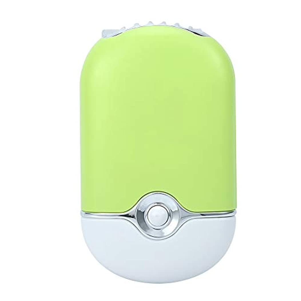 到着する表面分パーソナルミニポータブルファン、電動エアコンブロワー、ハンドヘルド冷却冷凍ファンusbリチャージ用まつげエクステンションマニキュア高速ドライヤー(緑)