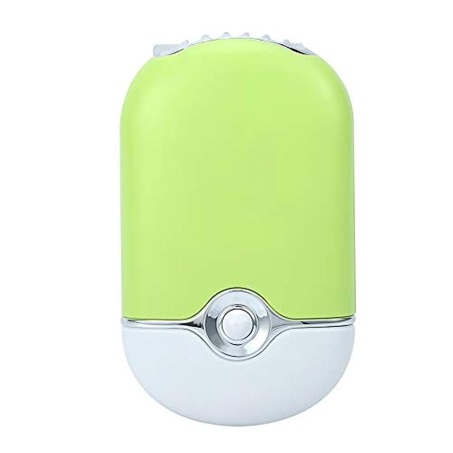 ズボンオープニング禁じるパーソナルミニポータブルファン、電動エアコンブロワー、ハンドヘルド冷却冷凍ファンusbリチャージ用まつげエクステンションマニキュア高速ドライヤー(緑)