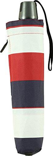 Knirps 折りたたみ傘 ワンタッチ自動開閉式 コンパクト 【正規輸入品】 T.200 MediumDuomatic Stripe Red KNT200-4905