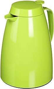 emsa(エムザ) 保温・保冷ポット グリーン 1.0L 味移りしない・保温効果の高いガラス瓶採用  ドイツ製 EZBP10-GR