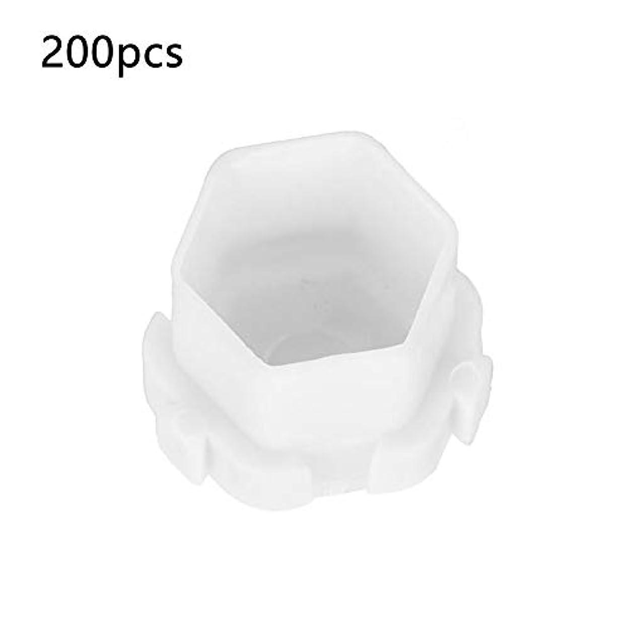 端末寝室を掃除するパック200ピースタトゥーインクカップハニカム形状顔料ホルダーカップ恒久化粧品、空のタトゥー顔料インクボックス/半恒久的な顔料収納ケースと調整可能な仕切り(1)