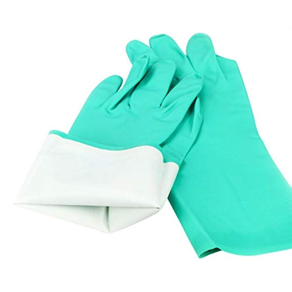 気晴らしリネン太い5ペア耐油性ニトリルゴム手袋 - 耐摩耗性耐油性滑り止め安全衛生丈夫な工業用保護 YANW (色 : 緑, サイズ さいず : L l)