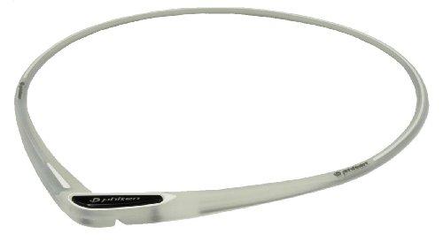 ファイテン(phiten) ネックレス RAKUWA ネックS シリコーン クロスタイプ スケルトン/ホワイト 43cm