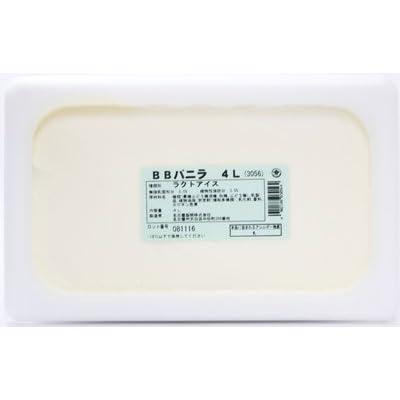 [冷凍] めいらく 業務用 BBバニラアイス 4L