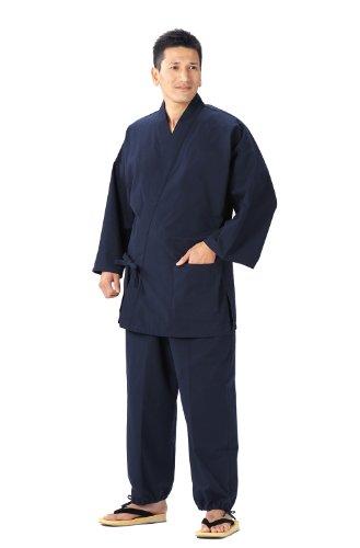 綿の郷 日本製 久留米紬織作務衣