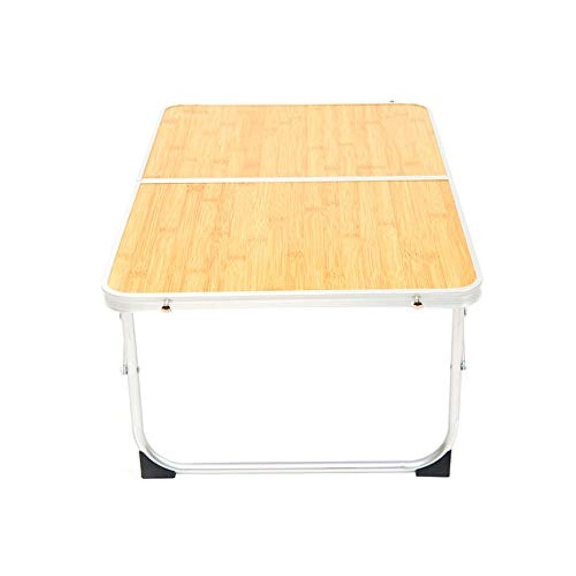維持便利さ構造屋外のピクニックダイニングバーベキューテーブル付きハンドルウッドカラー折りたたみ式テーブルポータブルキャンプテーブル アウトドア キャンプ用 (色 : Wood, サイズ : 60*40*25cm)