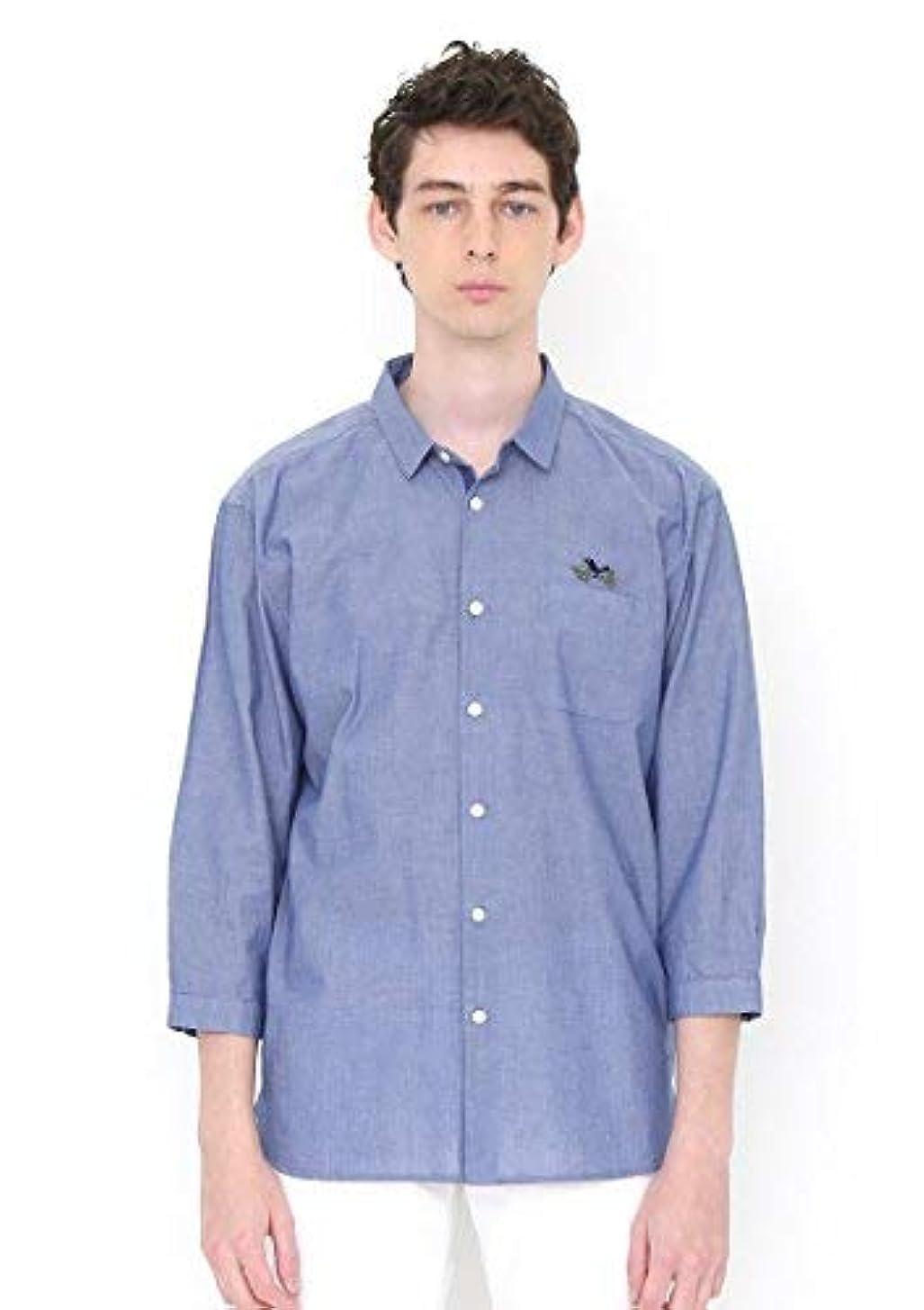 より平らな昇る予測(グラニフ) graniph ミドルスリーブシャツ (ザサウンドオブバーズ) (ブルー) S