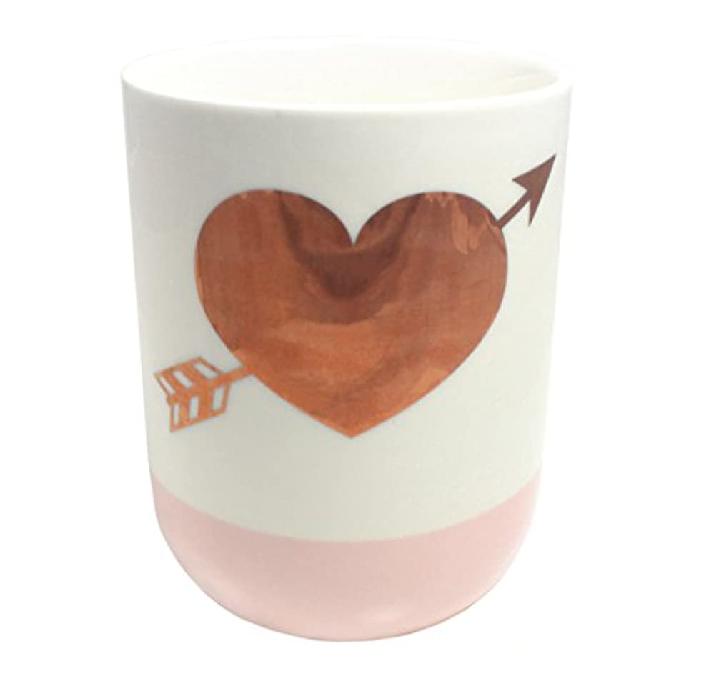 ボルト逆説ペパーミント2つの会社10.5-oz GildedハートローズScented Candle ;ホワイト&ピンク