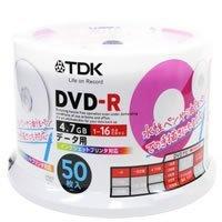 TDK データ用DVD-R 50枚 16倍速 プリンタブル [DR47PTC50PU_H]