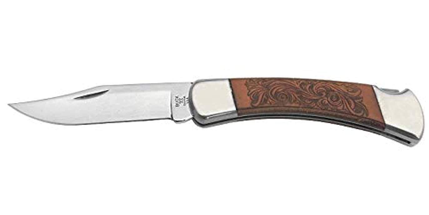 明示的にモッキンバード食欲バックナイフ BUCK 110BRSLE 110レザーフォールディングハンター