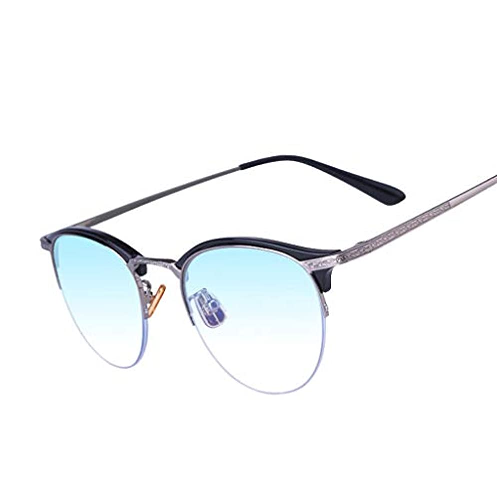 LCSHAN 多焦点レトロ老眼鏡アンチブループログレッシブ男性と女性のインテリジェントズーム+2.0 (Color : Black, Size : 200 degrees)
