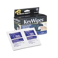 読み取り右KeyWipesキーボード&ハンドクリーナーウェットワイプ、5x 67/ 8、18/ボックス