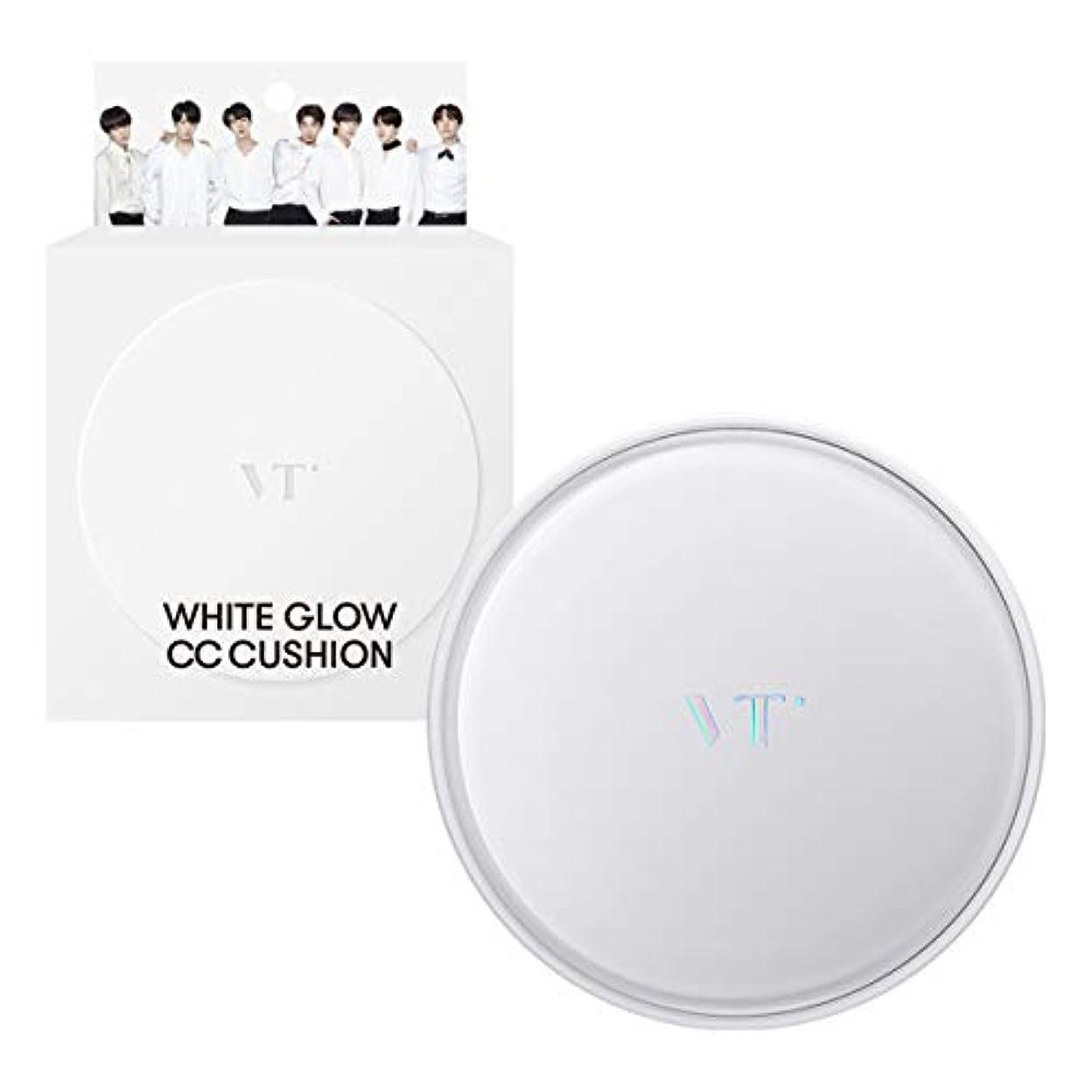 契約した子供達家族VT Cosmetics ホワイトグロウCCクッションSPF50+ PA+++ 21号IVORY 23号BEIGE (23号BEIGE)