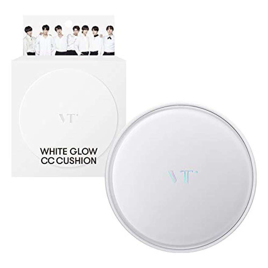 遊具料理をする合体VT Cosmetics ホワイトグロウCCクッションSPF50+ PA+++ 21号IVORY 23号BEIGE (23号BEIGE)