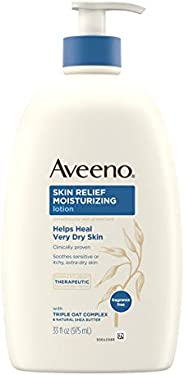 Aveeno Skin Relief Moisturizing Lotion for Sensitive Skin with Natural Shea Butter & Triple Oat Complex, U