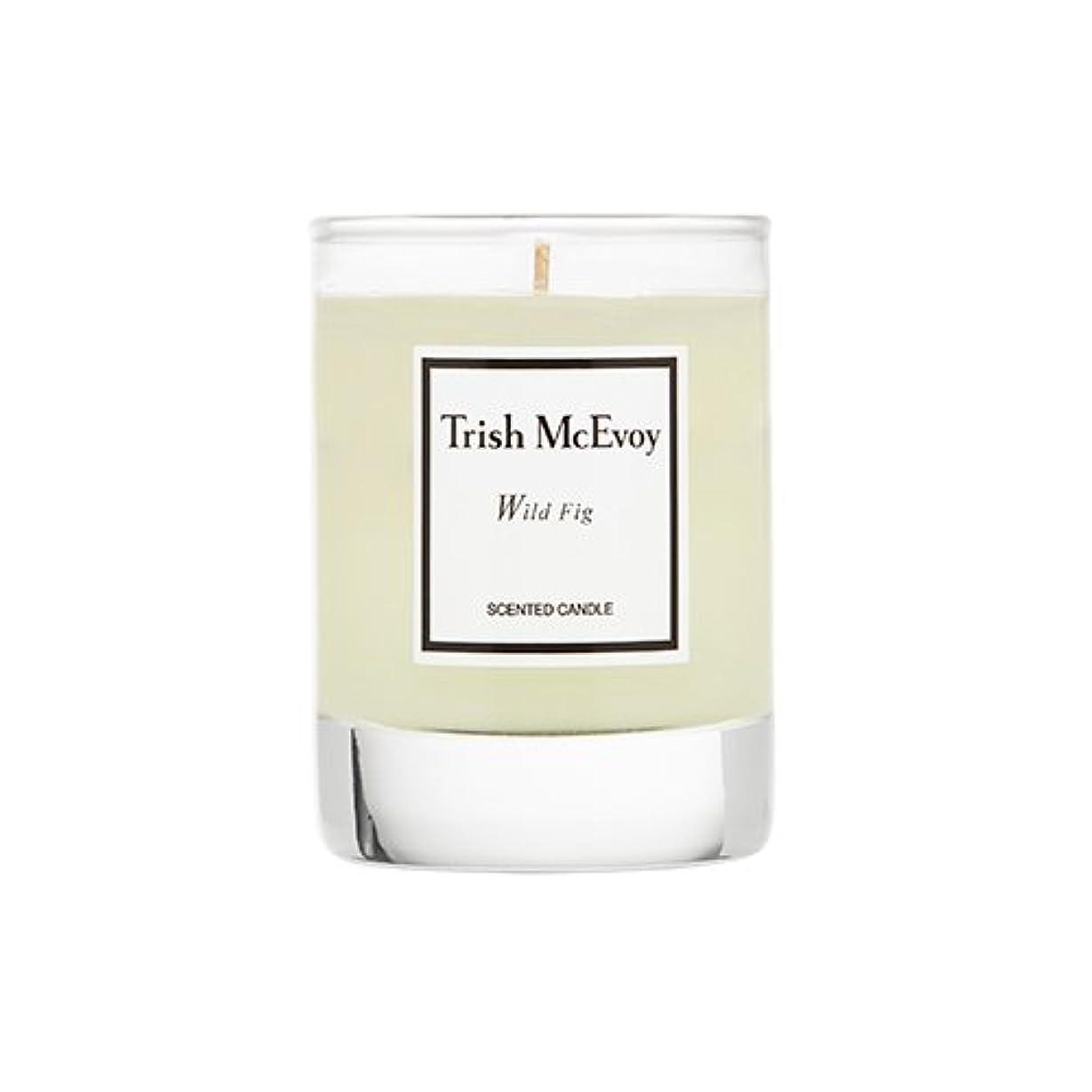 怖い雪ピットTrish McEvoy Wild Fig Scented Candle Votive 2oz