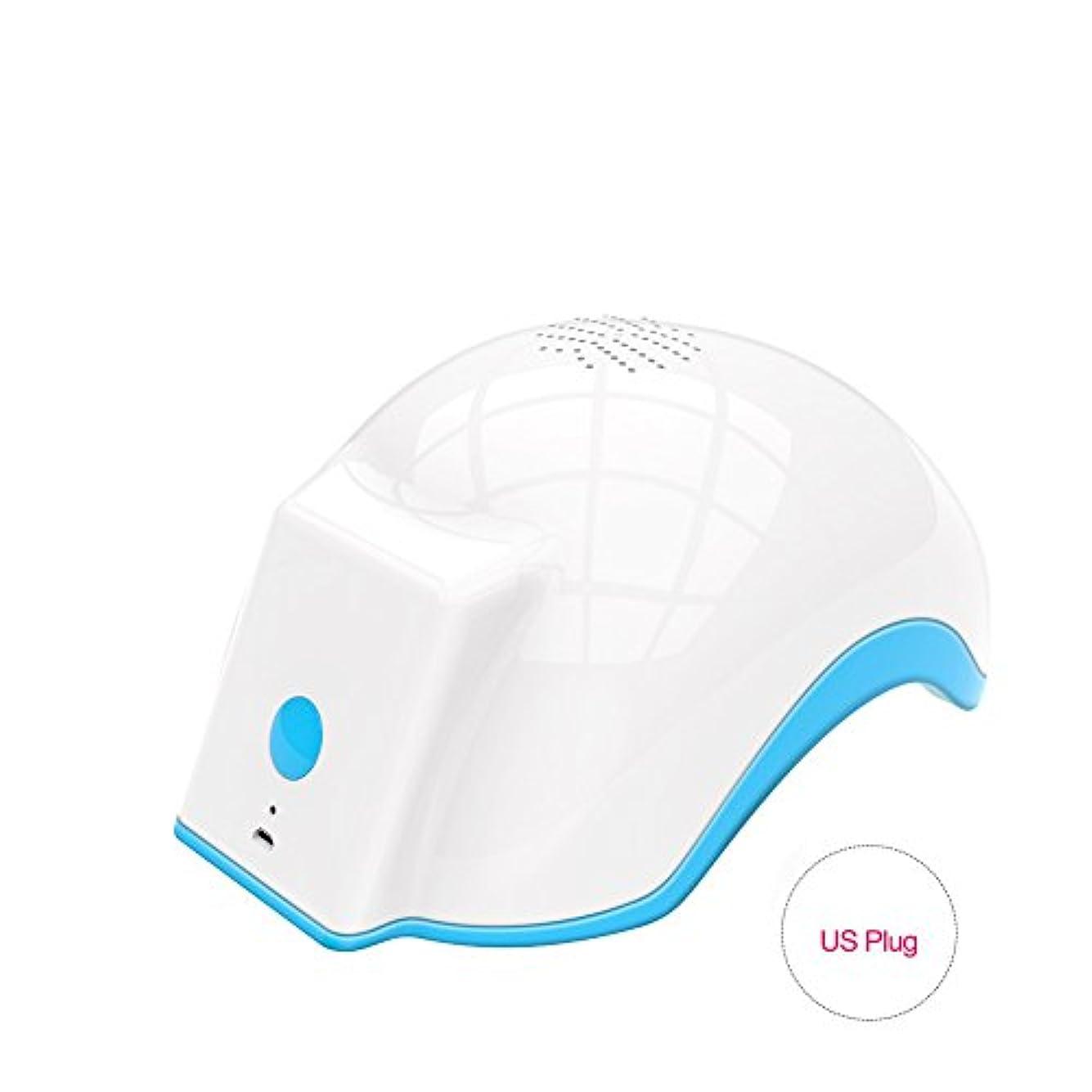 牽引韓国うぬぼれた育毛ヘルメット、100-240v脱毛脱毛脱毛症キャップは、発毛を促進し、逆間伐、高密度再生(US Plug)
