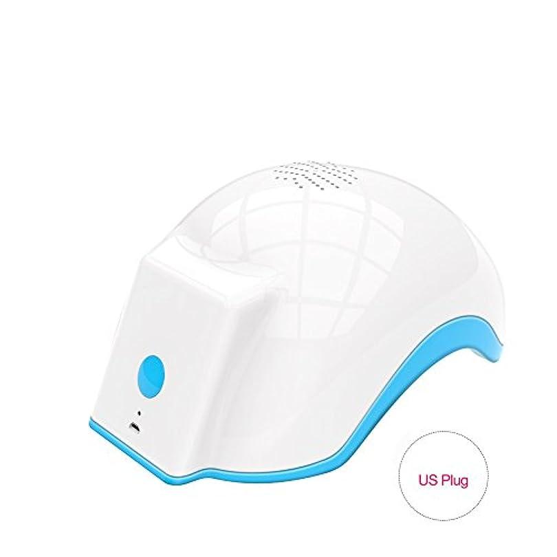ペアポーク解釈的育毛ヘルメット、100-240v脱毛脱毛脱毛症キャップは、発毛を促進し、逆間伐、高密度再生(US Plug)
